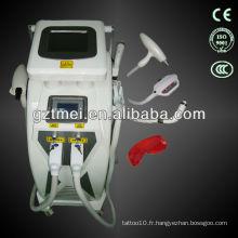 E light (IPL + RF) anti-épilation machine ipl avec Nd Yag Laser Tattoo removal
