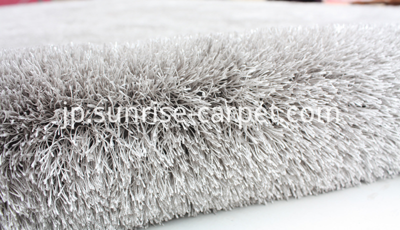 Polyester Shaggy Thick Yarn Grey Rug
