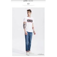 Camiseta barata de los hombres de la venta del nuevo diseño del OEM con la impresión