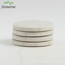 White Marble Round Coasters