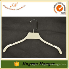 Hot sale White coating plastic hanger beautiful dresses hanger