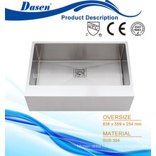 American standard hand built apron front single bowl 33x22inch kitchen sink high grade material with 304 dish rack