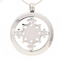 High quality necklace with coin,coin pendants holder
