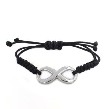 2016 Neuer Entwurfs-freies kundenspezifisches Mitteilung-schwarzes geflochtenes Leder-Armband-Armband