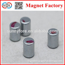 N35 1/4x1/16 round magnets with red line