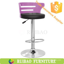 Cheap Barstool Chairs With Good Quality Leather Seat and Acrylic Back in Sale