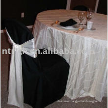 100%polyester chair cover, hotel/banquet chair covers, white satin chair sashes
