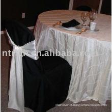 100% poliéster cadeira tampa, tampas da cadeira do banquete/hotel, cadeira cetim branco faixas