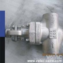 A105 / F316 / F304 Кованая сталь Клавишный клапан Cl150 & Cl300 & Cl600