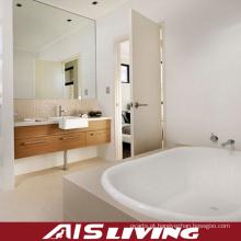 Vaidade fixada na parede dos armários de banheiro do folheado para o apartamento (AIS-B006)