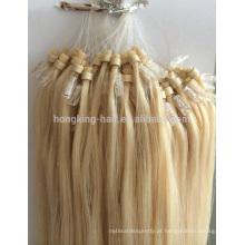 atacado barato grau brasileiras micro anel de loop extensões de cabelo