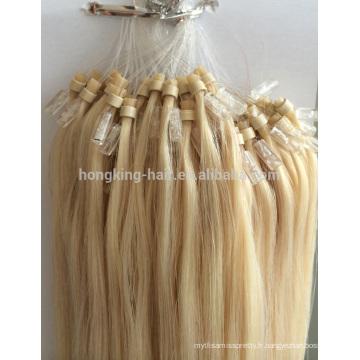 gros pas cher grade brésilien micro anneau boucle cheveux extensions