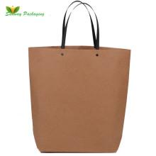Fashion kraft paper shopping bags boat shaped