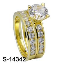 Späteste Art und Weise 925 Sterlingsilber-Hochzeits-Ring (S-14342)