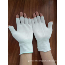 13 gauge nylon safety gloves without top fingers