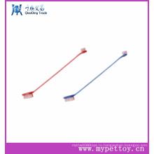 Пэт двухсторонняя зубная щетка Дешевые Pet Зубная щетка
