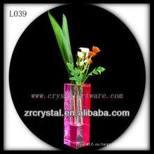 Bonito vaso de cristal L039