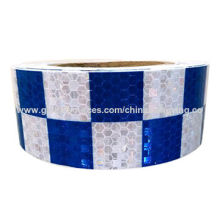 Blue and White Honey Comb Design Small Check of Reflective Safety Tapes