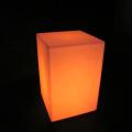 Led Light Up Outdoor Furniture Cadeira de cubo conduzida