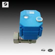 válvula eléctrica de latón con indicador de posición y función de anulación manual para un sifón