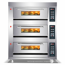 Deck Oven/Digital control Panel/3 Deck 6 Trays Gas Deck Oven/Commercial Kitchen Equipment