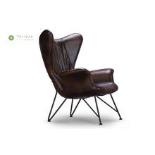 Chaise de loisirs avec coussin en PU et structure en métal