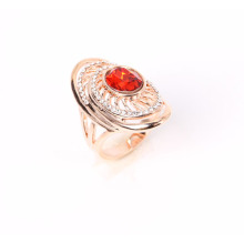 Rose Gold Plated Fashion Ring with Stones
