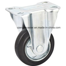 6 Inch Fixed High Quality Caster with Steel Core Rubber Caster Wheel, Janpanese Style