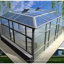 Casa de vidrio de aluminio que ahorra energía / terraza acristalada de aluminio