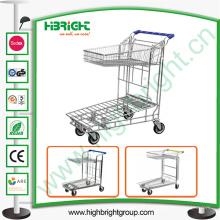 Tableta dos niveles Shopping Trolley Warehouse Cart
