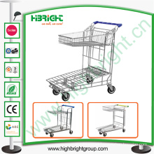 Tablet Two Tiers Shopping Trolley Warehouse Cart