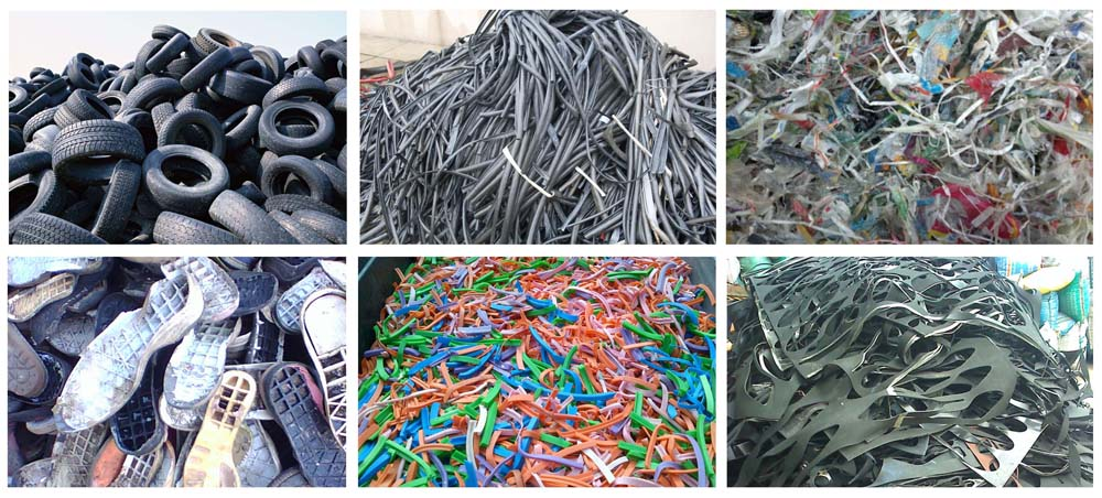 waste rubber tyre recycling
