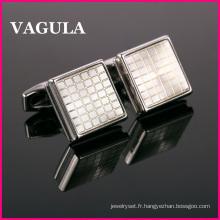 VAGULA nouveau diamant qualité boutons de manchettes (L51421)