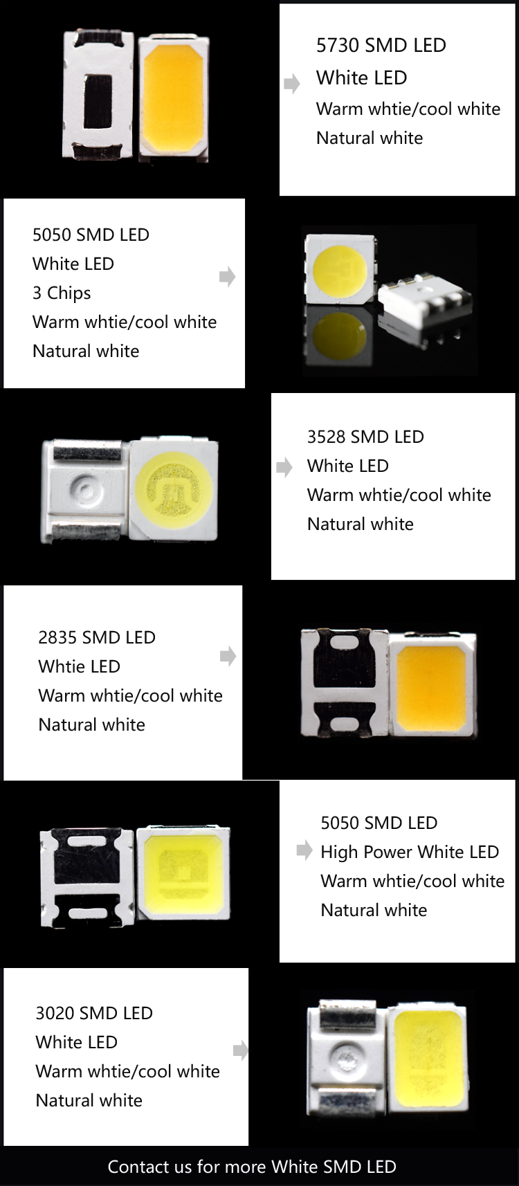 natural white SMD LED
