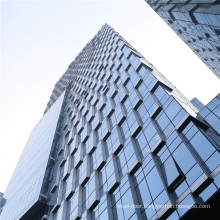 Aluminium Glass Curtain Wall Price Cost per m2 square metre foot of Glazed Unititzed Stick Frame Spider Facade