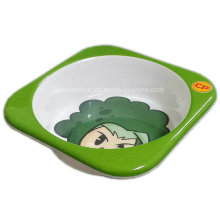 5inch Melamine Square Kids Bowl with Logo (BW7199)