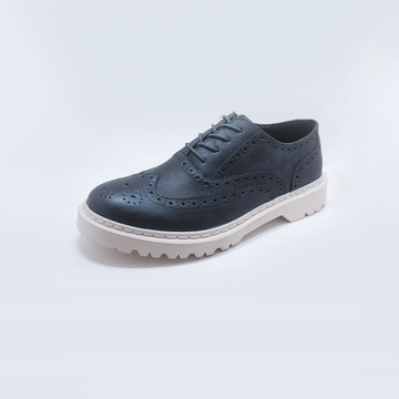 OEM Male Rubber Sole Mens Casual Lederschuhe