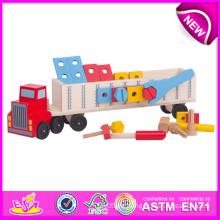 Günstige Spielzeug-Werkzeug-Satz für Kinder, neue Emulational Artikel Spielzeug-Werkzeuge für Kinder, lustige Auto-Stil Holz Werkzeuge Spielzeug für Baby W03D039