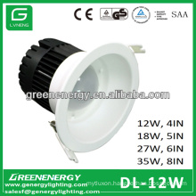 12W LED down light ceiling lamps 4in 5in 6in 8in
