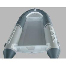 Barco inflável de casco de alumínio