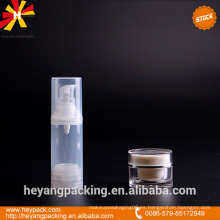 Transparente 30ml PP botella airless en stock