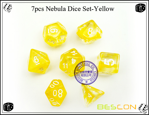 7pcs Nebula Dice Set-Yellow-4