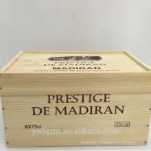 Boîte d'emballage en bois