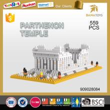 Melhor vender educacional chilld brinquedo Parthenon templo building block