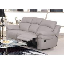 Sofá reclinável elétrico do sofá da chaise de couro genuíno (848)