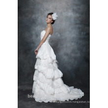 A-Line Straight Neck Strapless Ruffle Wedding Dress Bridal gown AS28702