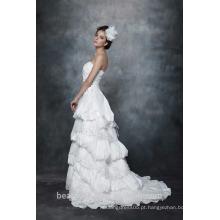 A-Line Straight Neck Strapless Ruffle Vestido de Noiva vestido de noiva AS28702