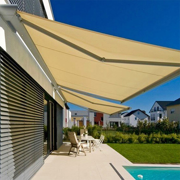 toldo retráctil impermeable manual