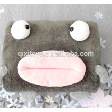 cute multi-purpose plush animal pillow blanket