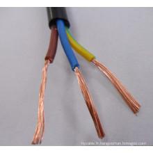 IEC 60502-1 pour CONDUCTEURS DE CUIVRE 0.6 / 1 kV, PVC ISOLÉ, GAINE DE PVC